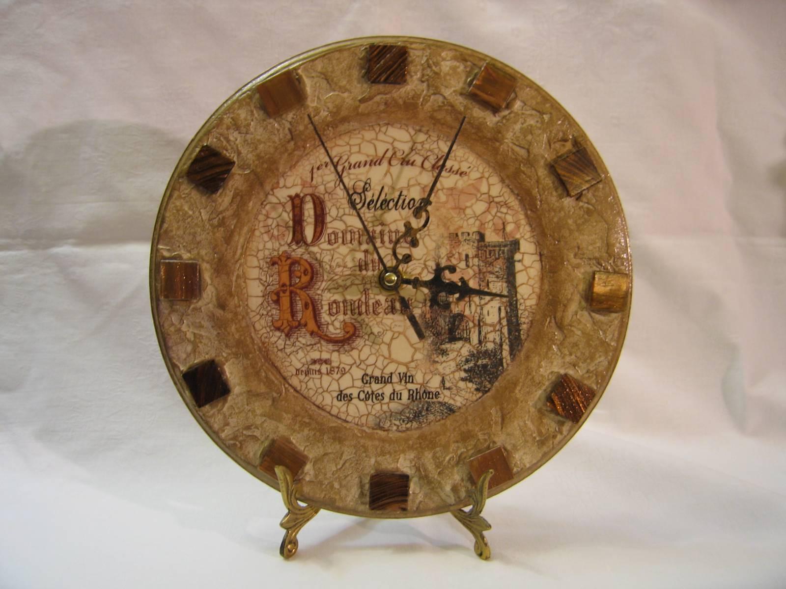 Оригинальные настенные часы своими руками Дизайн 29